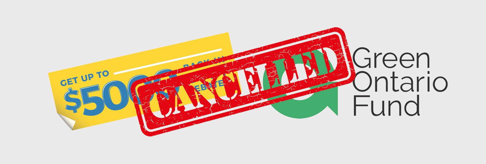 GreenON 5000 rebate program calcelled